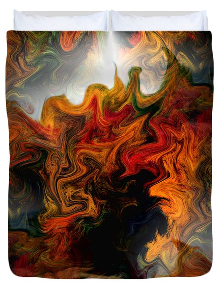Abstract Light And Shapes Duvet Cover