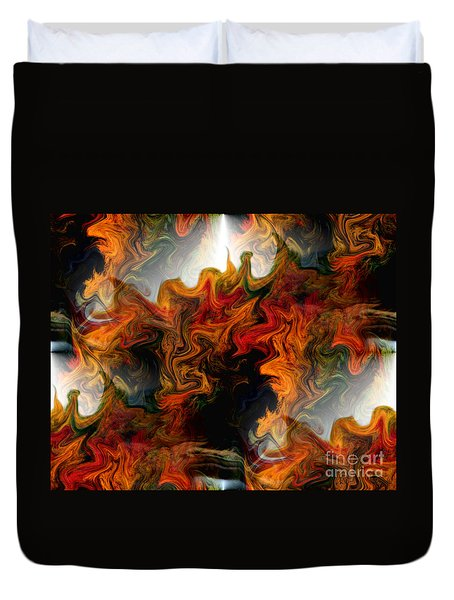 Abstract Light And Shapes Duvet Cover by Smilin Eyes  Treasures