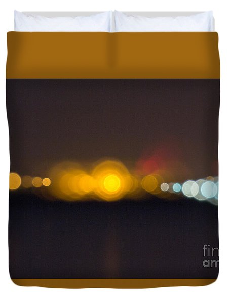 Duvet Cover featuring the photograph Abstract Light  by Odon Czintos