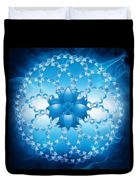 Abstract Lotus Flower Symbol Duvet Cover