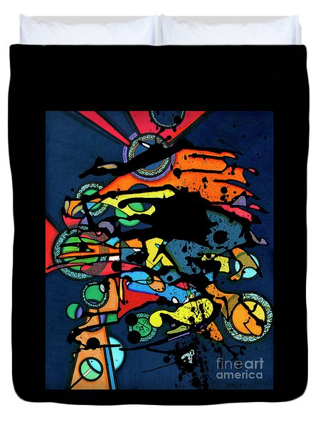 Abstract Man  Duvet Cover
