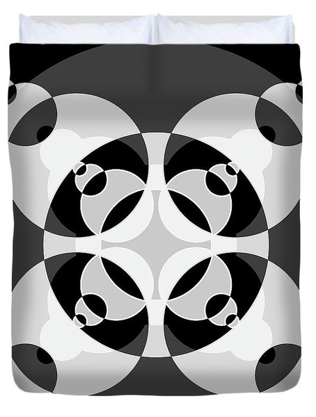 Abstract Mandala Black, Gray And White Pattern For Home Decoration Duvet Cover