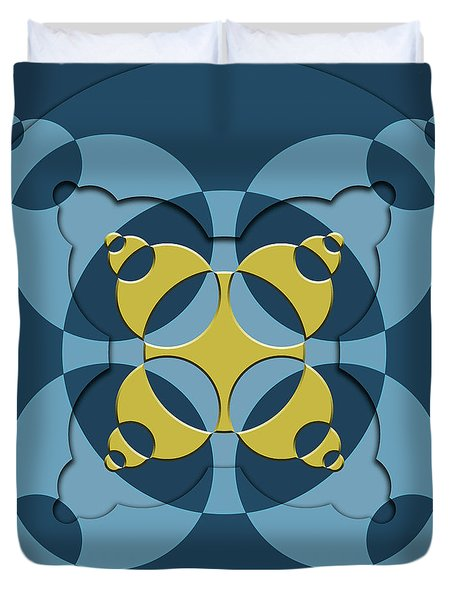 Abstract Mandala Blue, Dark Blue And Green Pattern For Home Decoration Duvet Cover