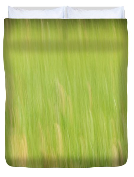 Abstract Meadow Duvet Cover