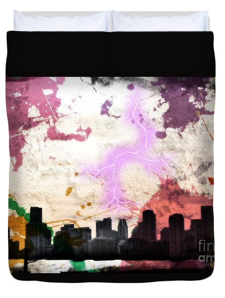 Lightning Strikes  Duvet Cover
