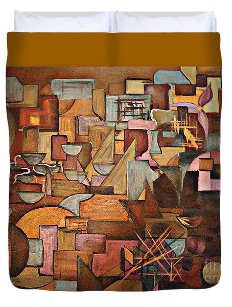 Abstract Mind Duvet Cover