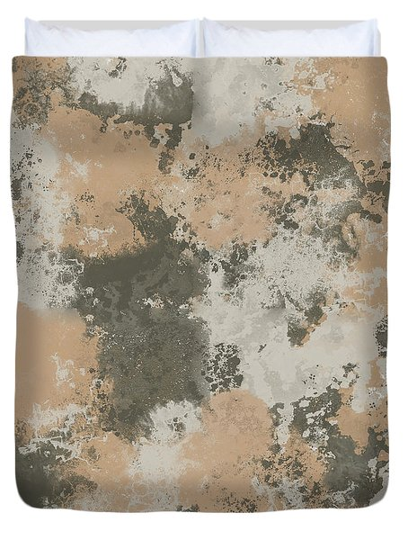 Abstract Mud Puddle Duvet Cover