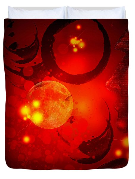 Abstract-nebula Duvet Cover by Patricia Motley