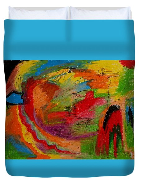 Abstract No. 3 Inner Landscape Duvet Cover