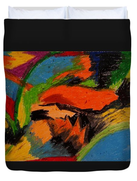 Abstract No. 4 Inner Landscape Duvet Cover