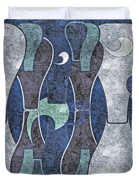 Abstract No. 67-2 Duvet Cover