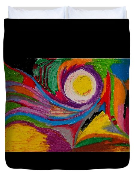 Abstract No.6 Innerlandscape Duvet Cover by Maria  Disley