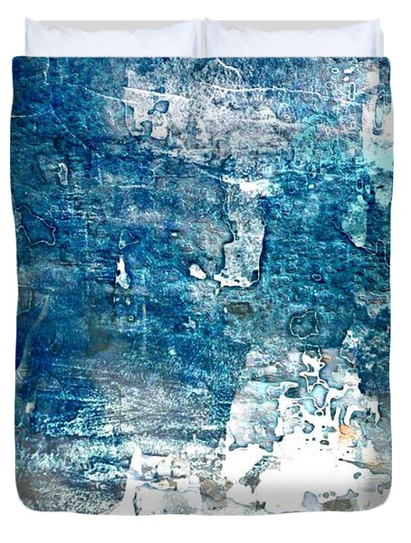Abstract Ocean Blue Duvet Cover by Lynda Payton