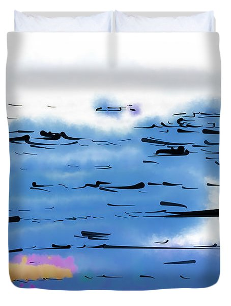 Abstract Ocean Duvet Cover