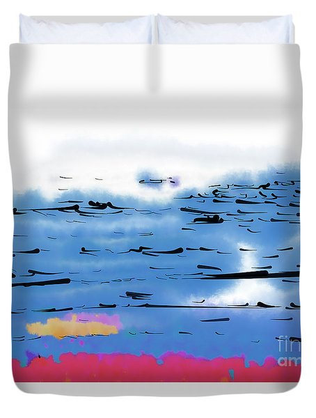 Abstract Ocean Duvet Cover
