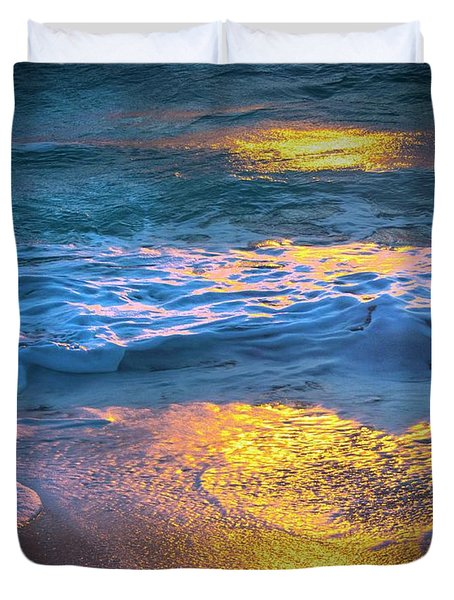 Abstract Of Beach Duvet Cover