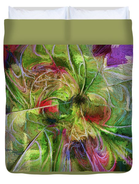 Duvet Cover featuring the digital art Abstract Of Color by Deborah Benoit