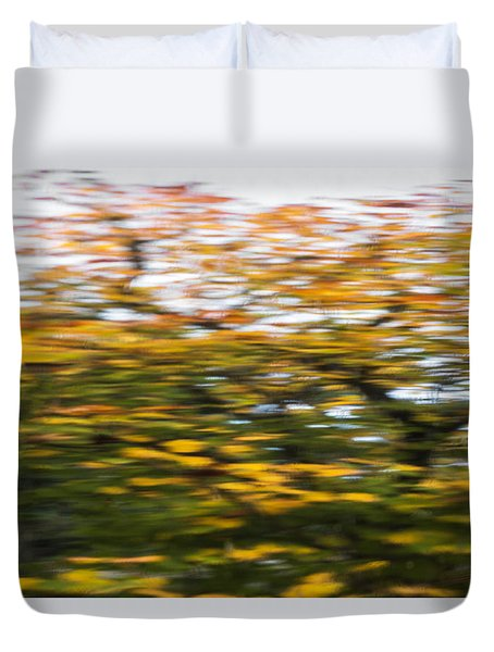Abstract Of Maple Tree Duvet Cover