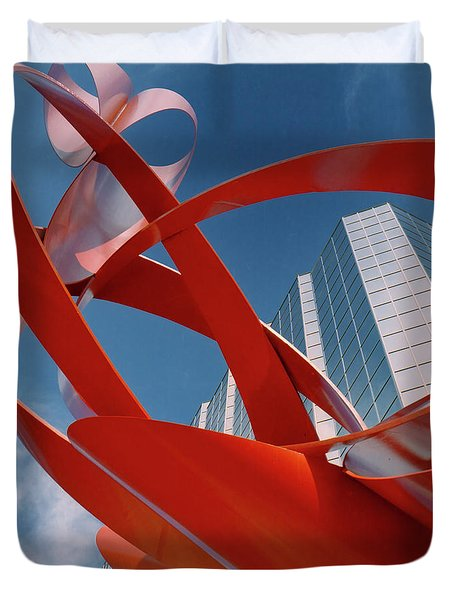 Abstract - Oklahoma City Duvet Cover