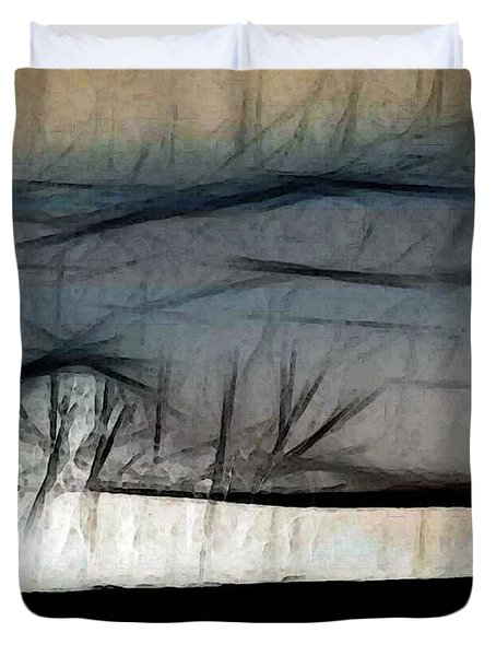 Abstract On River Duvet Cover