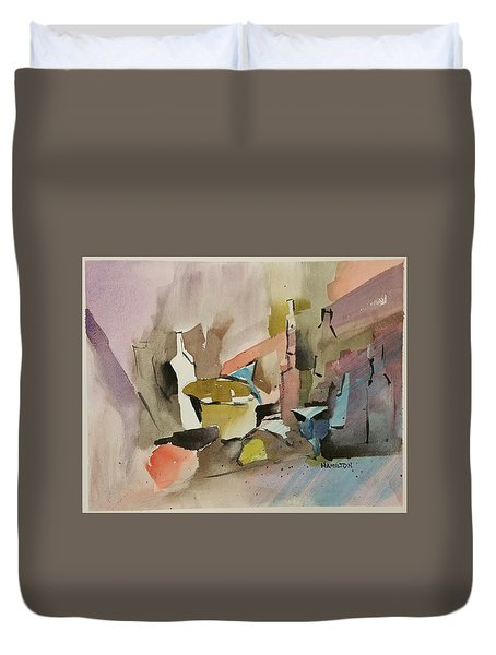 Abstract Opus 4 Duvet Cover