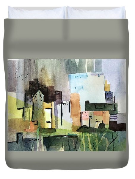 Abstract Opus 5 Duvet Cover