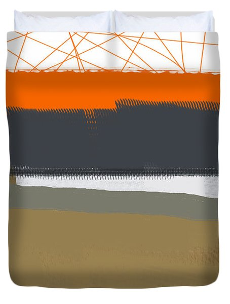 Abstract Orange 1 Duvet Cover