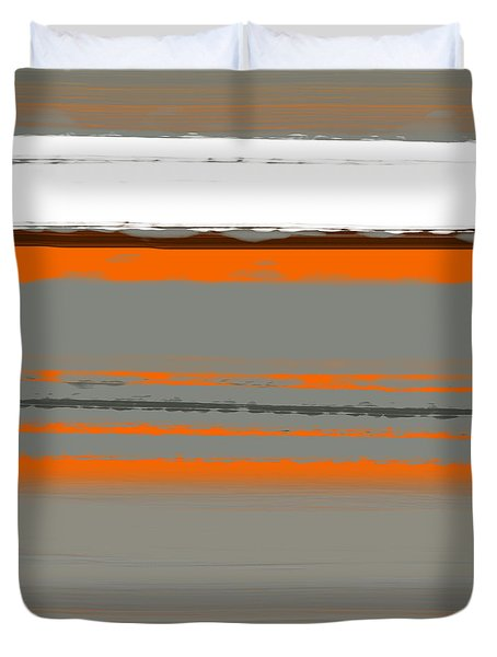 Abstract Orange 2 Duvet Cover