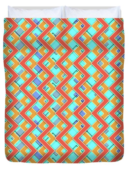 Abstract Orange, Cyan And Red Pattern For Home Decoration Duvet Cover