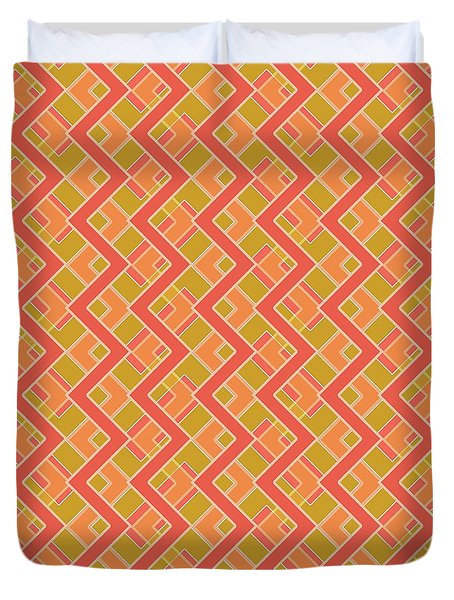 Abstract Orange, Red And Brown Pattern For Home Decoration Duvet Cover