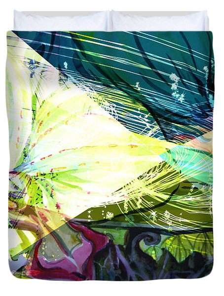 Abstract Orchid Duvet Cover by Mindy Newman