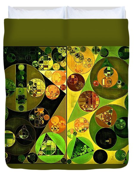 Abstract Painting - Barberry Duvet Cover by Vitaliy Gladkiy