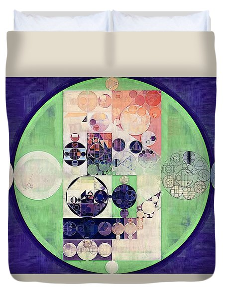Duvet Cover featuring the digital art Abstract Painting - Blanc by Vitaliy Gladkiy