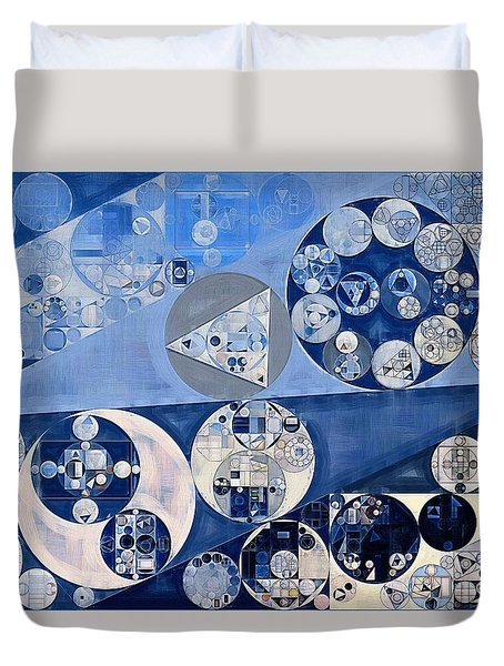 Abstract Painting - Blue Whale Duvet Cover by Vitaliy Gladkiy