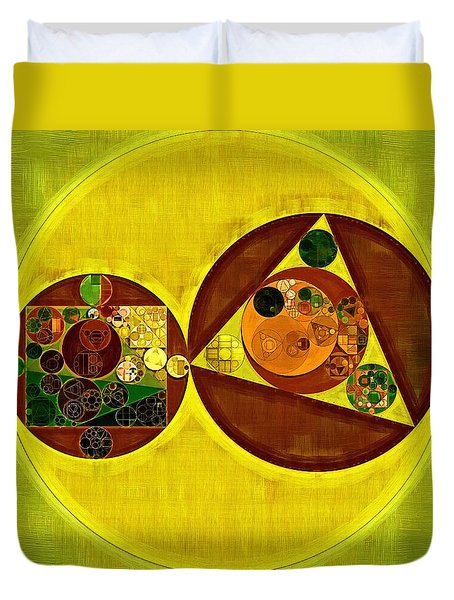 Abstract Painting - Citrine Duvet Cover by Vitaliy Gladkiy
