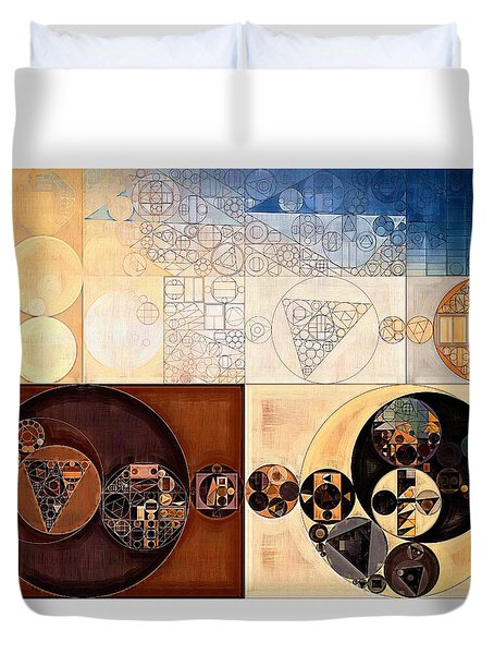 Abstract Painting - Dairy Cream Duvet Cover by Vitaliy Gladkiy