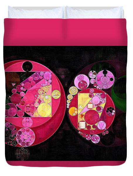 Abstract Painting - Deep Carmine Duvet Cover by Vitaliy Gladkiy
