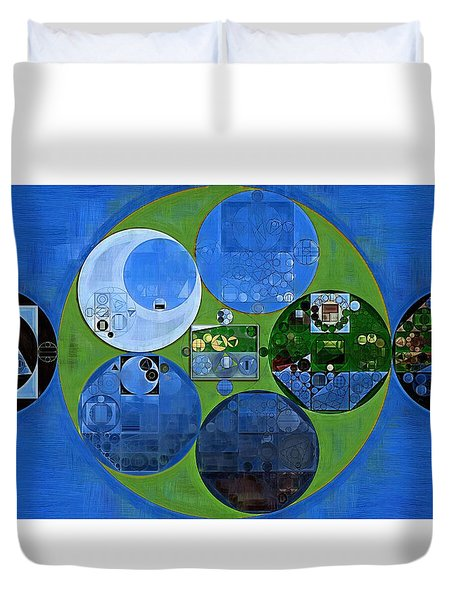 Abstract Painting - Everglade Duvet Cover by Vitaliy Gladkiy