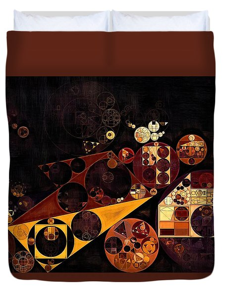 Duvet Cover featuring the digital art Abstract Painting - Fire Bush by Vitaliy Gladkiy