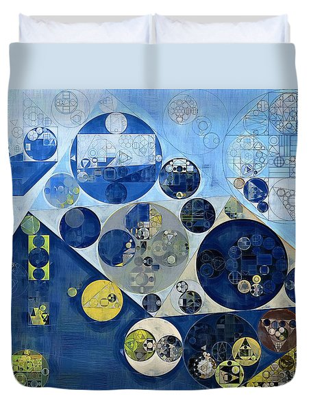Abstract Painting - Kashmir Blue Duvet Cover by Vitaliy Gladkiy