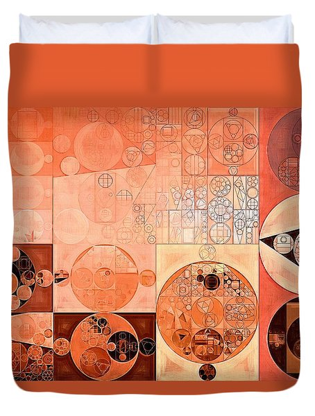 Abstract Painting - Mandys Pink Duvet Cover by Vitaliy Gladkiy