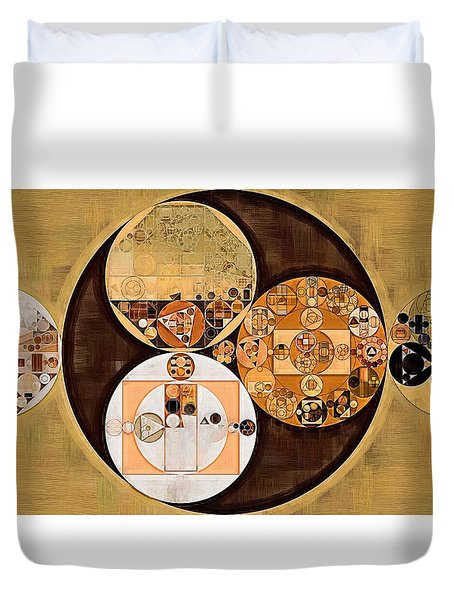 Abstract Painting - New Tan Duvet Cover by Vitaliy Gladkiy