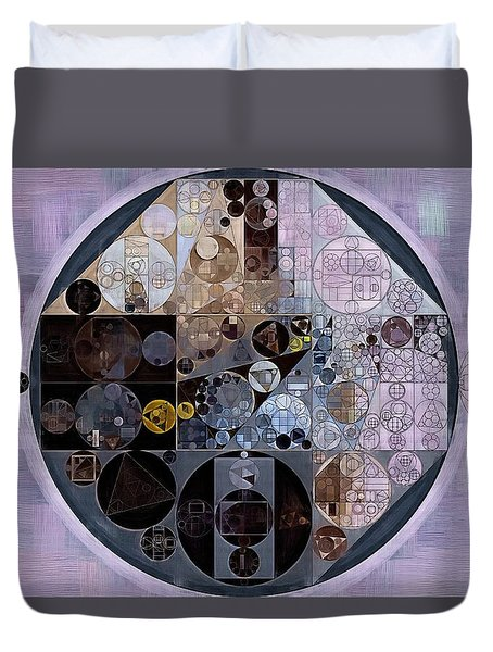 Duvet Cover featuring the digital art Abstract Painting - Pastel Purple by Vitaliy Gladkiy