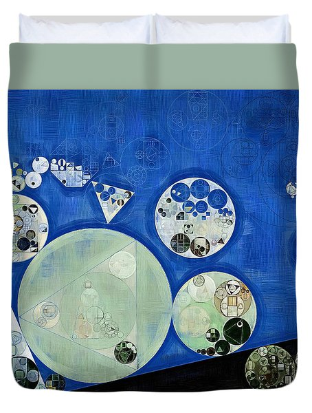 Abstract Painting - Rainee Duvet Cover by Vitaliy Gladkiy