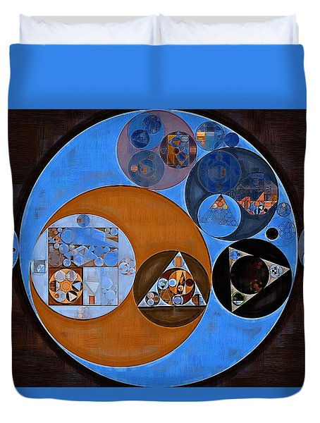 Abstract Painting - Rock Blue Duvet Cover by Vitaliy Gladkiy