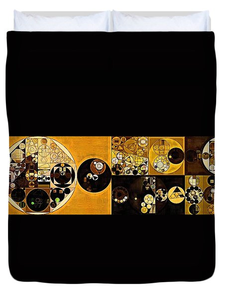 Abstract Painting - Sahara Duvet Cover by Vitaliy Gladkiy