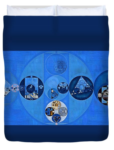 Abstract Painting - Sapphire Duvet Cover by Vitaliy Gladkiy