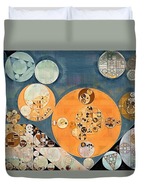 Abstract Painting - Shuttle Grey Duvet Cover by Vitaliy Gladkiy