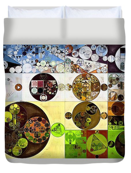 Abstract Painting - Wood Bark Duvet Cover