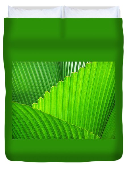 Abstract Palm Leaves Duvet Cover